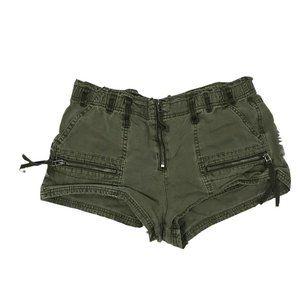Free People Women's Stretch Denim Cargo Shorts 6